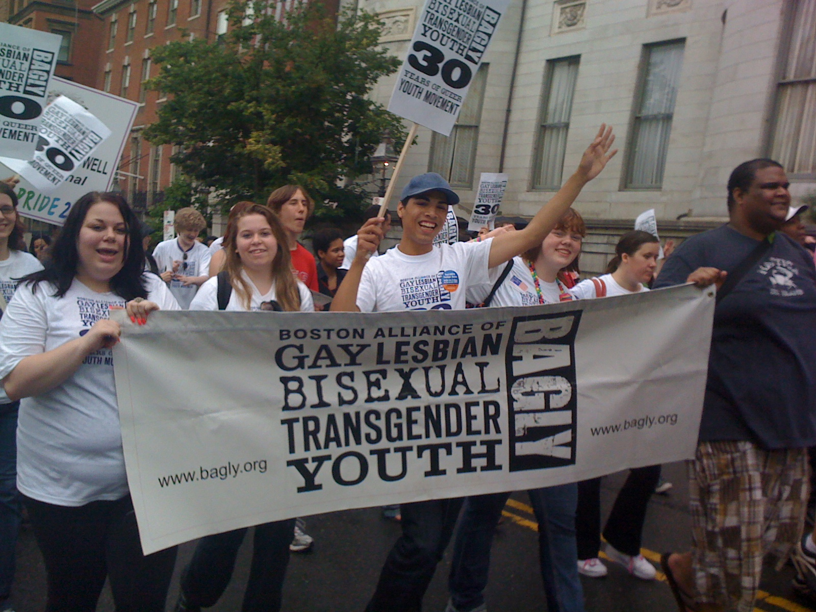 BAGLY Youth Marching at Boston Pride!